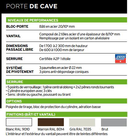 Porte de cave blind e fichet point fort - Porte de cave ...